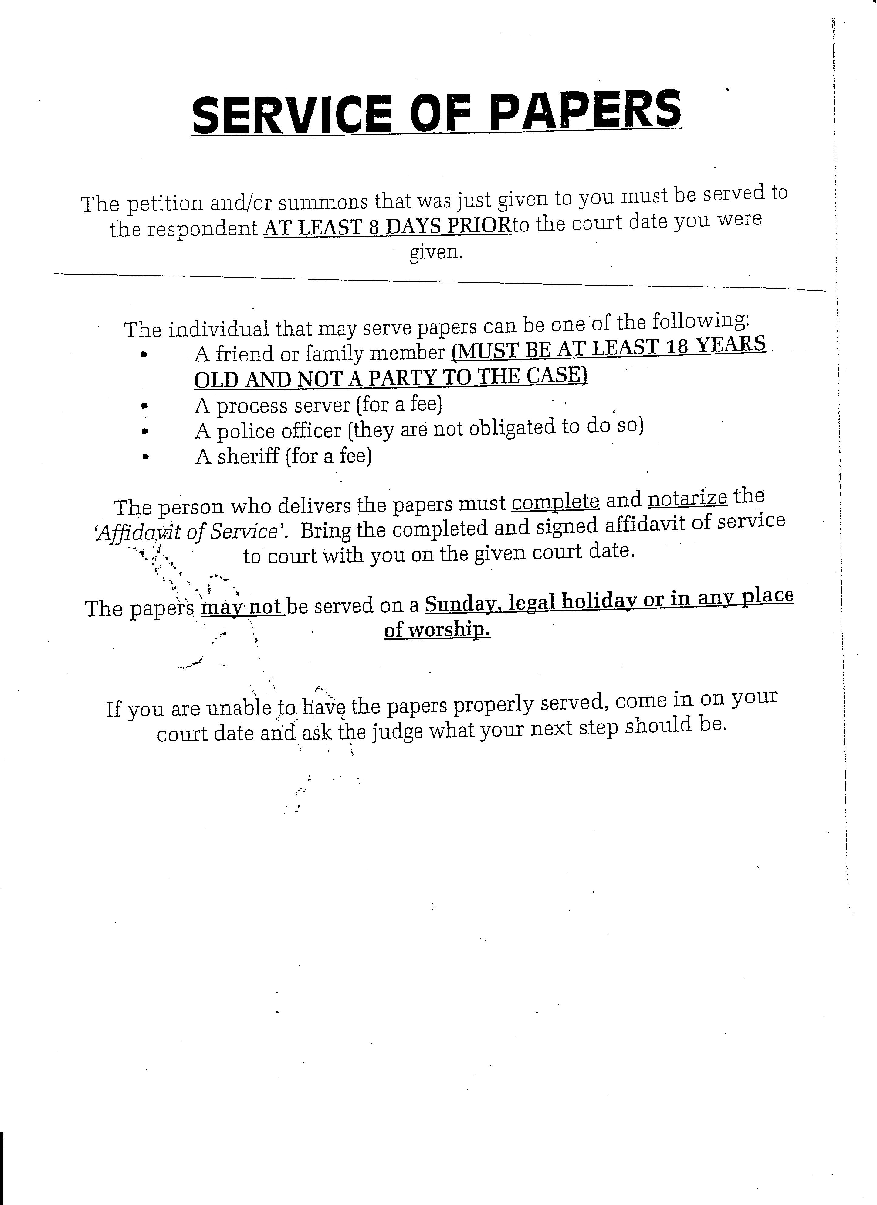 family court process serverservice of process for ny